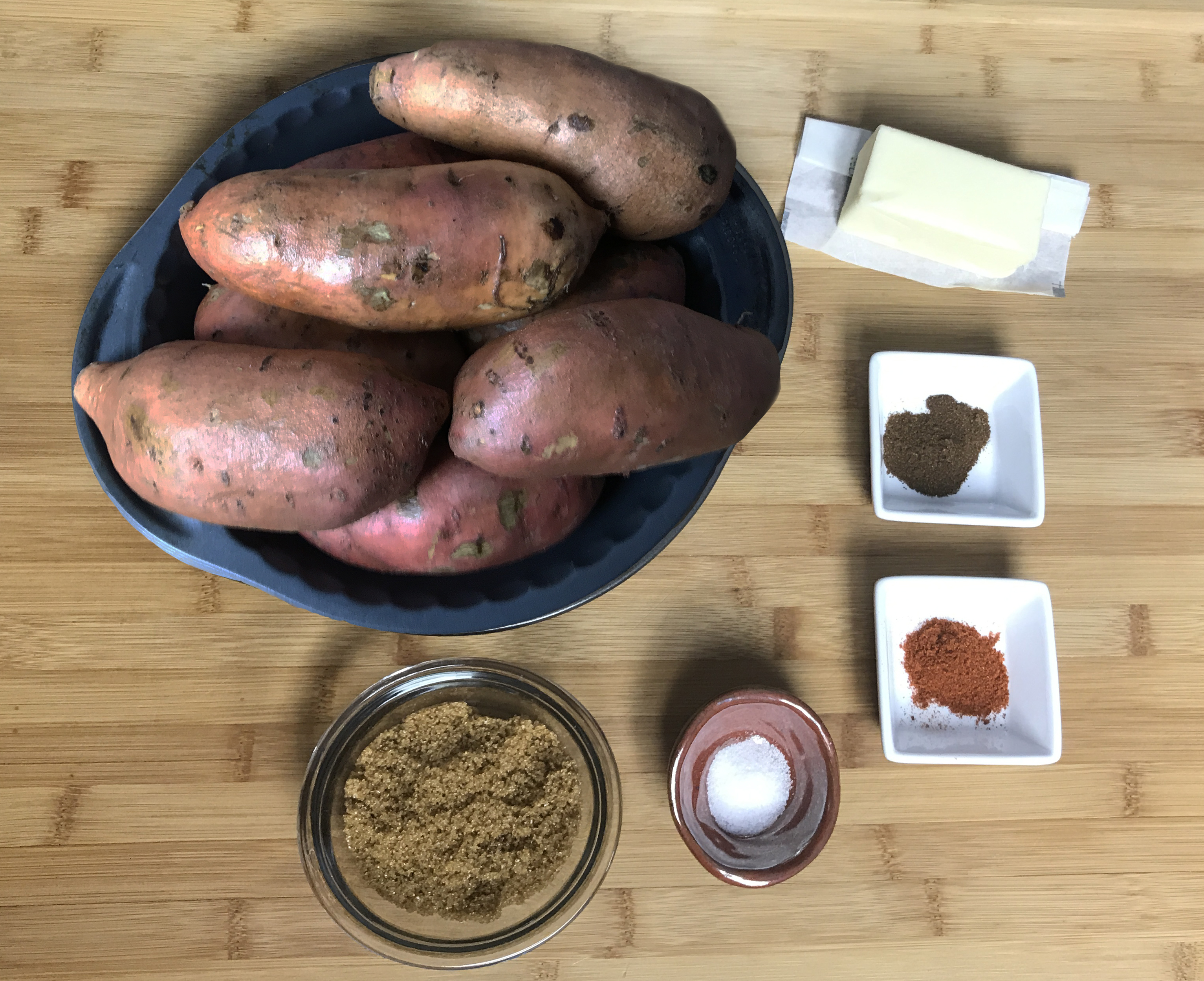 KitchAnnette Spicy Sweet Potato Roses ingredients