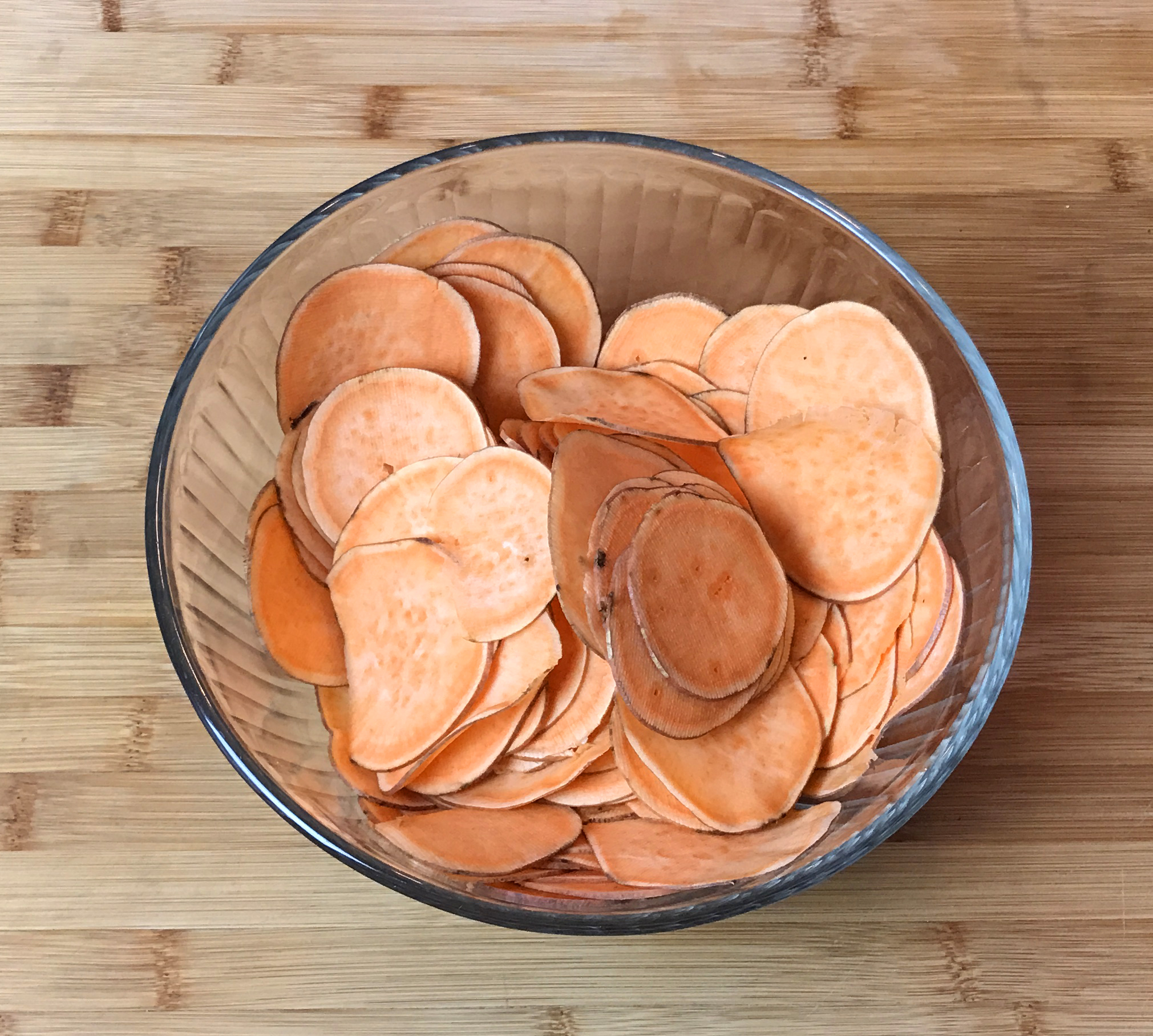 KitchAnnette Spicy Sweet Potato Roses raw slices