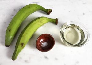 KitchAnnette Tostones Maduros Green Plantain Ingredients